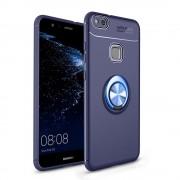 Huawei P10 lite blå Cover med ring holder Mobil tilbehør