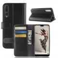 Huawei P20 pro cover ægte læder sort