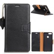 Huawei P smart sort cover ægte læder Mobil tilbehør