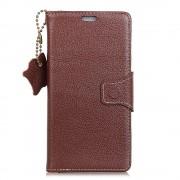 Huawei P smart mørkebrun cover ægte læder Mobil tilbehør