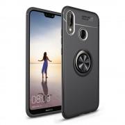 Cover med ring holder sort Huawei P20 lite Mobil tilbehør