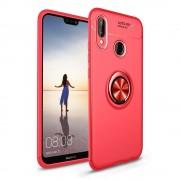 Cover med ring holder rød Huawei P20 lite Mobil tilbehør