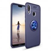 Cover med ring holder blå Huawei P20 lite Mobil tilbehør