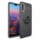 Huawei P20 pro cover med ring holder sort Mobil tilbehør