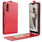Vertikal flip cover rød Huawei P20 pro Mobil tilbehør