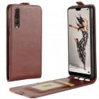 Vertikal flip cover brun Huawei P20 pro Mobil tilbehør