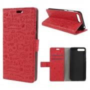 Cover cartoon rød Huawei Y6 2018 Mobil tilbehør