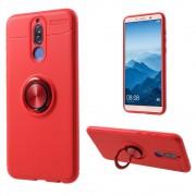 Cover med ring holder rød Huawei Mate 10 lite Mobil tilbehør