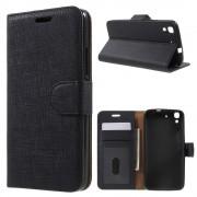 HUAWEI Y6 plaid læder cover sort, Mobiltelefon tilbehør