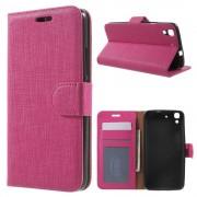 HUAWEI Y6 plaid læder cover rosa, Mobiltelefon tilbehør