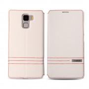 HUAWEI HONOR 7 premium læder cover med kort lommer, hvid Mobiltelefon tilbehør