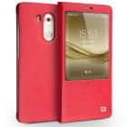HUAWEI MATE 8 premium læder cover, rød Mobiltelefon tilbehør