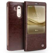 HUAWEI MATE 8 premium læder cover, brun Mobiltelefon tilbehør