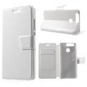 HUAWEI P9 læder cover med lommer, hvid Mobiltelefon tilbehør