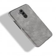 Stilfuld læder case grå Huawei Mate 20 lite Mobil tilbehør