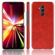Stilfuld læder case rød Huawei Mate 20 lite Mobil tilbehør