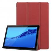 Huawei T5 10,1 mørkerød klassisk folde cover Ipad og Tablet tilbehør