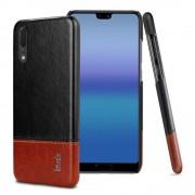 sort-brun Stilfuld læder case Huawei P20 Mobil tilbehør