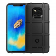 Rugged shield cover Huawei Mate 20 Pro sort Mobil tilbehør
