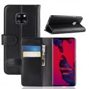 sort Flip cover ægte læder Huawei Mate 20 Pro Mobil tilbehør