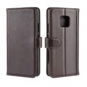 brun Flip cover ægte læder Huawei Mate 20 Pro Mobil tilbehør