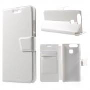 HUAWEI P9 læder cover med kort lommer hvid