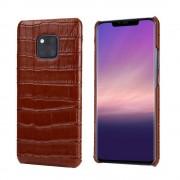 brun Skind case croco Huawei Mate 20 Pro Mobil tilbehør