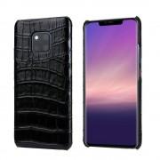 sort Skind case croco Huawei Mate 20 Pro Mobil tilbehør