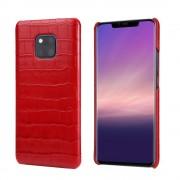 rød Skind case croco Huawei Mate 20 Pro Mobil tilbehør