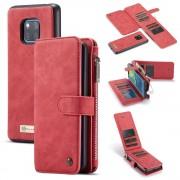 rød 2 i 1 cover med multi lommer Huawei Mate 20 Pro