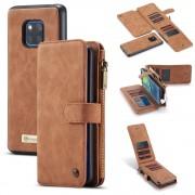 brun 2 i 1 cover med multi lommer Huawei Mate 20 Pro