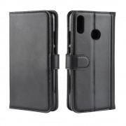 Huawei P smart (2019) sort cover ægte læder Mobil tilbehør
