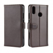 Huawei P smart (2019) brun cover ægte læder Mobil tilbehør