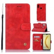 Viser Vintage etui Huawei P smart (2019) rød