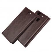 HUAWEI P9 ægte læder cover med lommer mocca, Mobiltelefon tilbehør