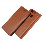 HUAWEI P9 ægte læder cover med lommer brun, Mobiltelefon tilbehør