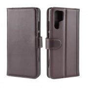 brun Flip cover ægte læder m lommer Huawei P30 Pro Mobil tilbehør