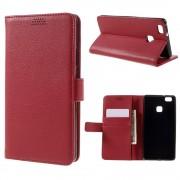 HUAWEI P9 LITE læder pung cover rød, Mobiltelefon tilbehør