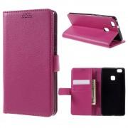 HUAWEI P9 LITE læder pung cover rosa, Mobiltelefon tilbehør