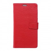 HUAWEI P9 ægte læder cover med kort lommer rød, Mobiltelefon tilbehør