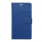 HUAWEI P9 ægte læder cover med kort lommer blå, Mobiltelefon tilbehør