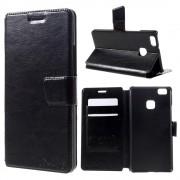 HUAWEI P9 LITE læder cover med kort lommer sort, Mobiltelefon tilbehør