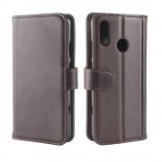 brun Flip etui ægte læder Huawei P30 Lite