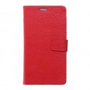 HUAWEI P9 PLUS ægte læder cover med kort lommer rød, Mobiltelefon tilbehør