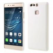 HUAWEI P9 tpu cover med læder hvid, Mobiltelefon tilbehør