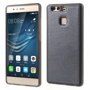 HUAWEI P9 tpu cover med læder grå, Mobiltelefon tilbehør