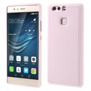 HUAWEI P9 tpu cover med læder pink, Mobiltelefon tilbehør