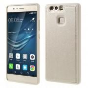 HUAWEI P9 tpu cover med læder guld, Mobiltelefon tilbehør
