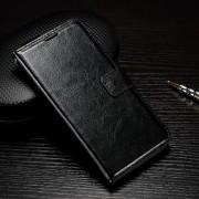 HUAWEI P9 pung læder cover sort, Mobiltelefon tilbehør