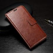 HUAWEI P9 pung læder cover brun, Mobiltelefon tilbehør